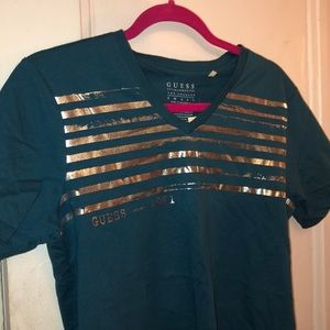 GUESS Striped Graphic Tee
